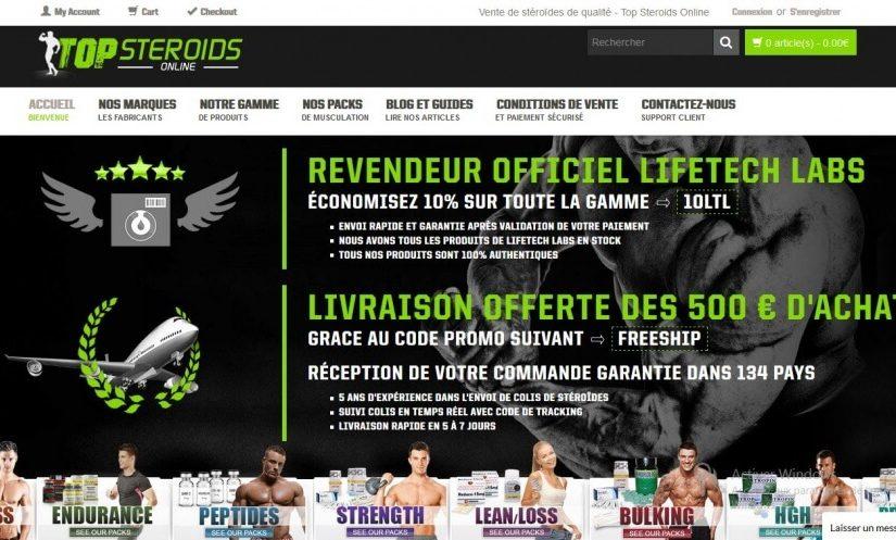 Avis sur Top Steroids Online